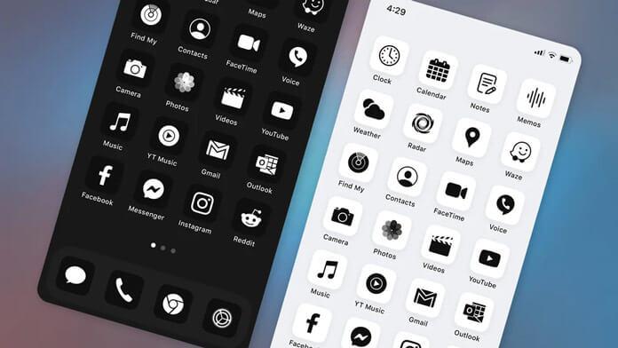9. حزمة أيقونة Neon Kit iOS 14